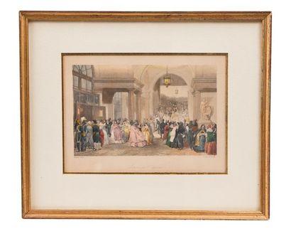LAMI Eugène (1800-1890), d'après. Ensemble de 4 lithographies colorées décoratives,...