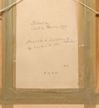 École française ou étrangère circa 1849-1850. Portrait de Philippe d'Orléans (1838-1894),...