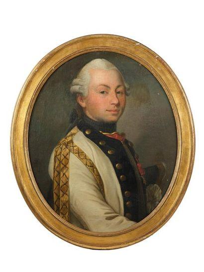 École française du XVIIIe siècle. Portrait...
