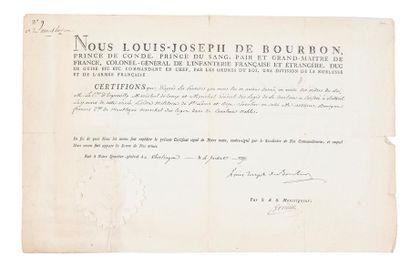 Certificat de chevalier de l'ordre royal...