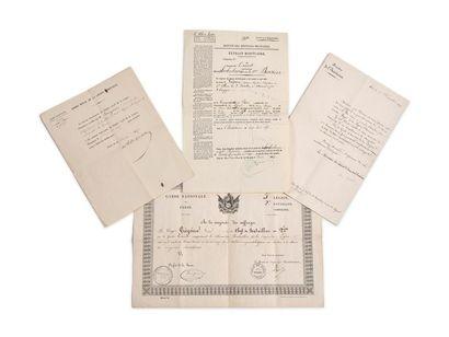 Lot de 5 brevets adressés à Louis-Benoît...