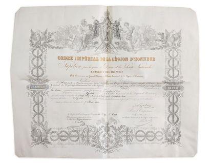 Lot de 4 brevets adressés à Charles Auguste...