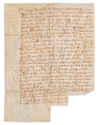 Acte juridique d'époque Henri IV, entièrement...