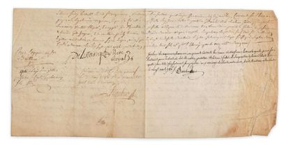 Droit des biens. Acte de cession manuscrit...
