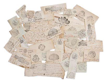 Collection de timbres. Bel ensemble de 34...