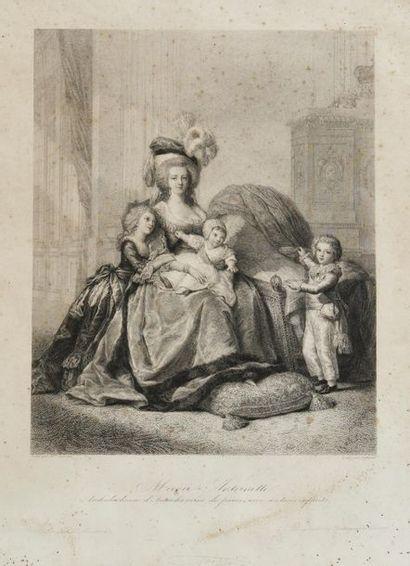 Marie-Antoinette. Estampe figurant Marie...