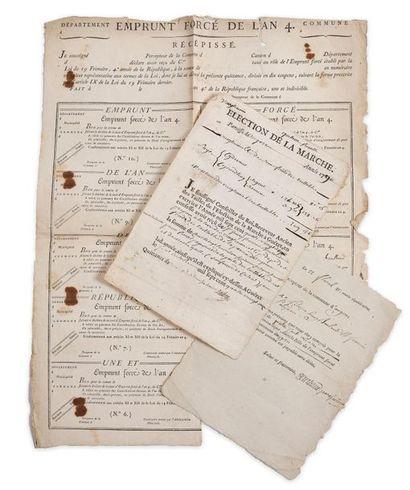 """Emprunts. Lettre en partie tapuscrite signée """"Bourliaud"""" par le précepteur de la..."""