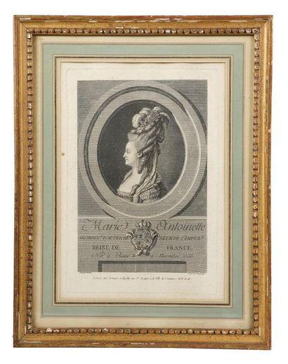 VAN LOO Louis-Michel (1707-1771), d'après. Portraits de Louis XVI et Marie-Antoinette....