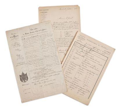 Général Vanson (1825-1900). États de service de Joseph Emile Vanson établis par...