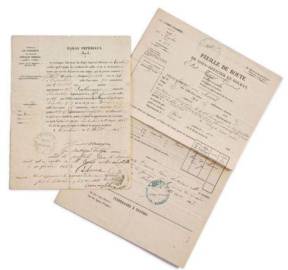 Haras impériaux. Certificat de naissance de produit d'étalon impérial , une pouliche...