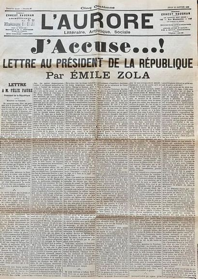 Emile ZOLA (1840-1902). J'accuse...! Lettre...
