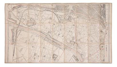 Plan du XVIe arrondissement de Passy (Paris). Par Lanée, successeur de Longuet,...