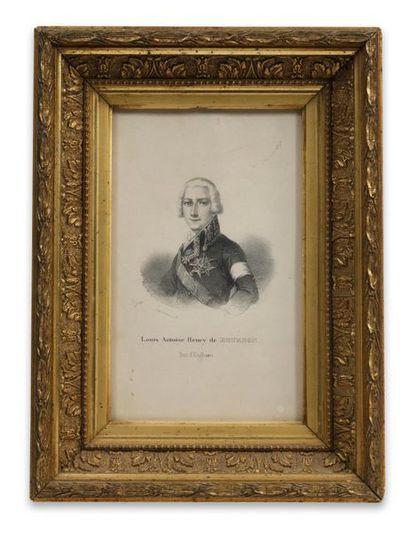 Duc d'Enghien Portrait lithographié représentant...