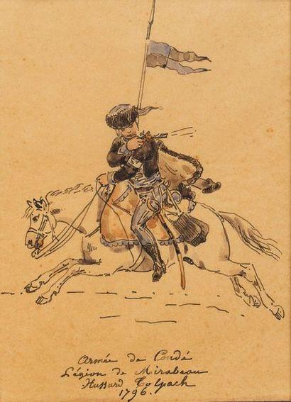 LAMI Eugène (1800-1890), attribué à. Lot...