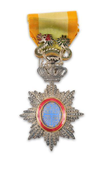 Ordre du Dragon d'Annam. Croix de chevalier...