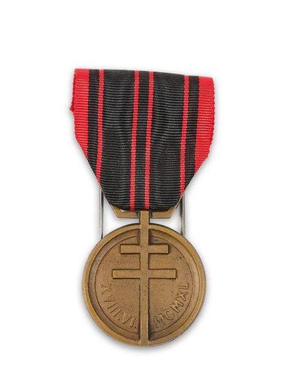 France Médaille de la Résistance en bronze,...