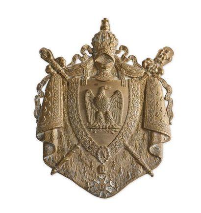 Plaque de sabretache de la Garde impériale,...