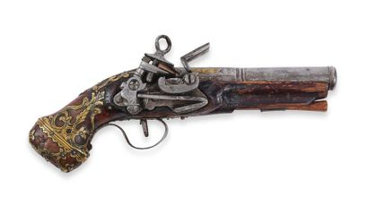Petit pistolet, à silex, de Ripoll. Canon...