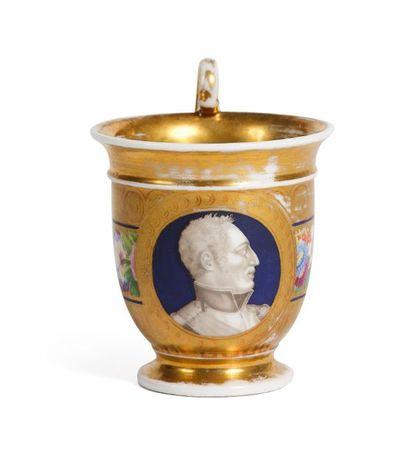 Charles-Philippe de France, comte d'Artois (1757-1836). Tasse en porcelaine dure...