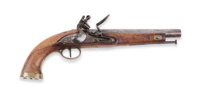 Pistolet, à silex, type britannique. Canon...