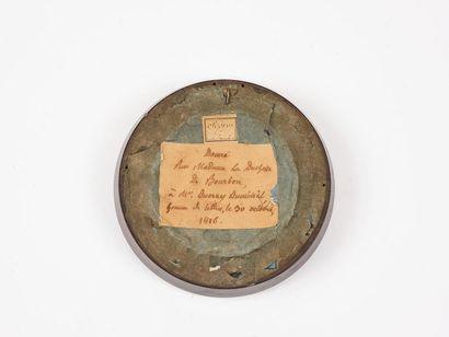 Duc et Duchesse d'Angoulême Paire de médaillons en biscuit de porcelaine en relief...