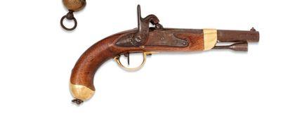 Pistolet d'arçon, modèle 1822 T bis. Canon...
