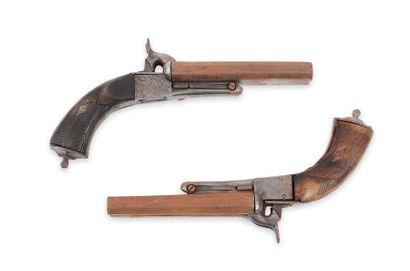 Lot de 2 pistolets, à coffre, double, à broche....
