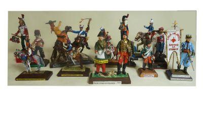 Restauration-Second Empire. 29 figurines....