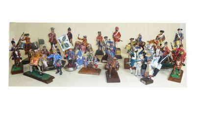 France Ancien Régime. 27 figurines. Cavalerie,...