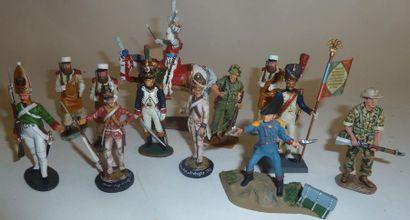 France, Premier Empire : 36 figurines. Figurines...