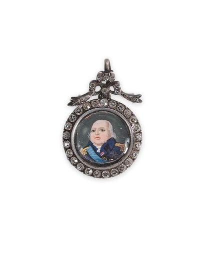 Louis XVIII, roi de France. Bijou pendentif...