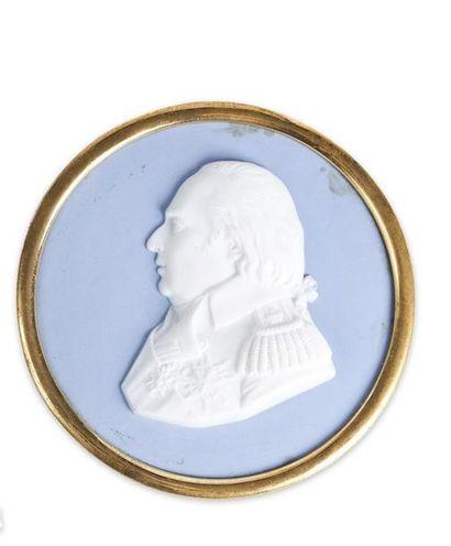 Louis XVIII, roi de France. Médaillon en...