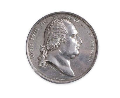 Importante médaille en argentpar Andrieu...