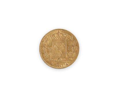 Pièce en or de 20 francs de 1817 au profil...