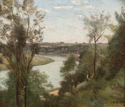 Camille COROT (Paris 1796 - 1875) A river...