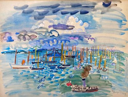 Raoul DUFY (Le Havre 1877 - Forcalquier 1953)...