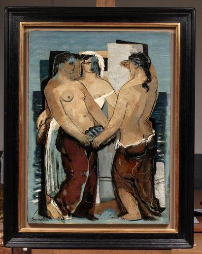 Jean SOUVERBIE (Boulogne -Billancourt 1891 - Paris 1981) Le bonheur du marin, vers...