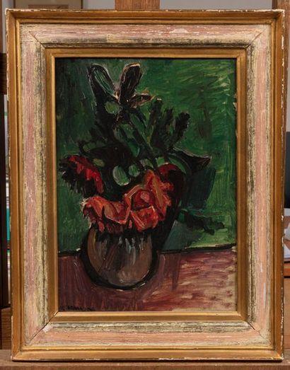 Pinchus KREMEGNE (Zaloudock 1890 - Ceret 1981) Bouquet de fleurs Huile sur toile...