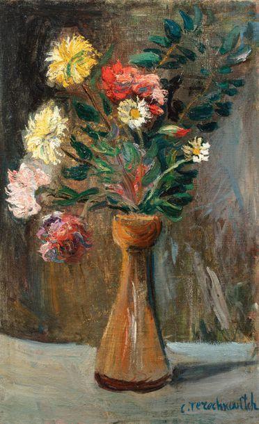 Constantin TERECHKOVITCH (Moscou 1902-Monaco 1978) Nature morte aux fleurs Huile...
