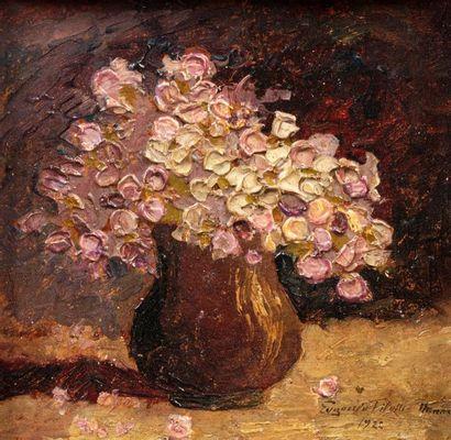 Eugenia FILOTTI ATANASIUS (Batogu 1880 - Bucarest 1968) Bouquet de fleurs Réalisé...