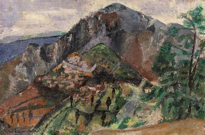 Willy EISENSCHITZ (Vienne 1889 - Paris 1974) Paysage Huile sur toile d'origine 74,5...