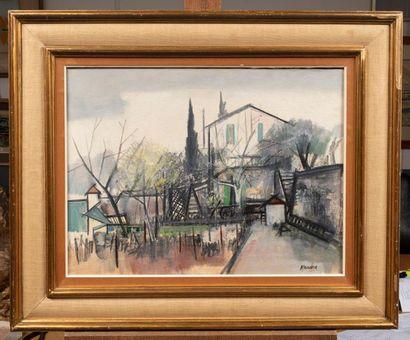 Rudolf KUNDERA (Brünn 1911 – Cassis 2005) Les abords d'une propriété Huile sur toile...