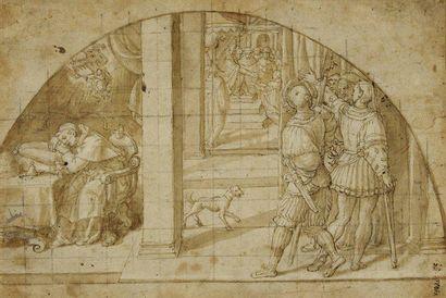 Attribué à Bernardino BARBATELLI dit IL POCCETTI (Florence 1548 - 1612)