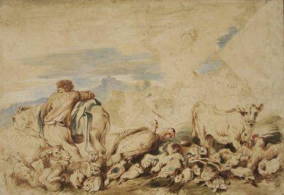 Attribué à Giovanni Benedetto CASTIGLIONE dit Il Grechetto (Gênes 1609 - Mantoue 1664)