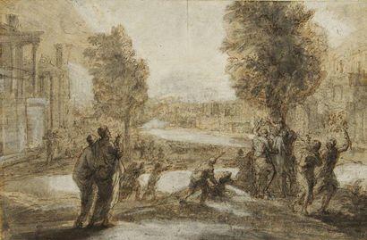 Entourage de Claude GELLEE dit le Lorrain (Chamagne 1600 - Rome 1682)