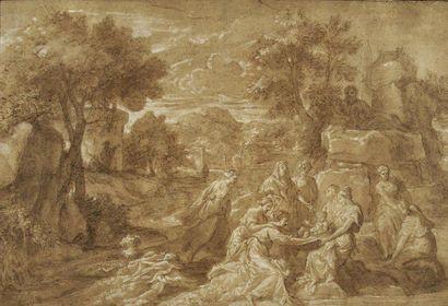 Ecole de Nicolas POUSSIN (Villiers 1594 - Rome 1665)