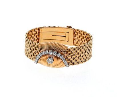 UTI Montre bracelet de dame en or jaune 18k...