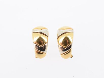 BULGARI Paire de clips d'oreilles en or jaune...