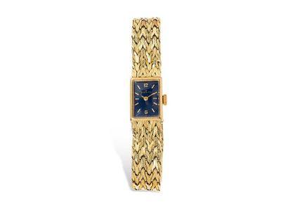 ZENITH pour HERMES Montre bracelet rectangulaire...