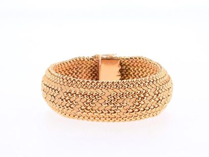 Bracelet ruban en or jaune 18k (750 millièmes)...